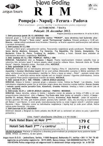Cenovnik Rim autobusom 7 dana - Argus Tours.pdf - Art Travel ...