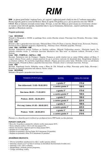 Cenovnik 3 - Rim - 6 dana - bus.pdf - Luna Lux Kruševac