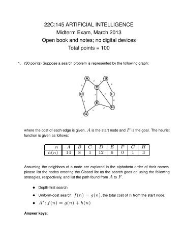 artificial cleverness midterm assessment paper