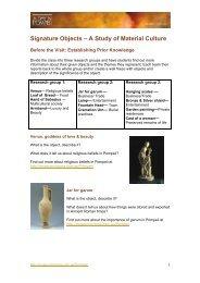 Explore Pompeii - Pre-excursion study of material ... - Museum Victoria