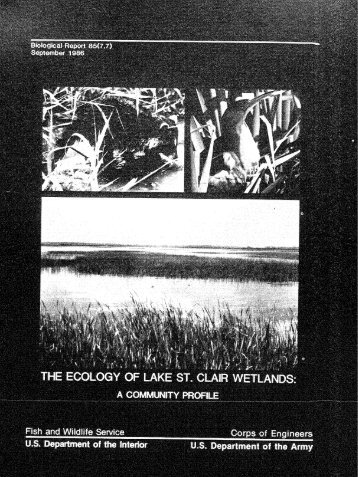 The Ecology of Lake St. Clair Wetlands: A Community Profile