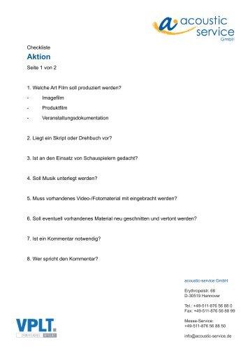 Aktion - a • acoustic-service GmbH