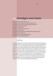 Hoofdstuk 5.1 Gevolgen voor mens - Milieurapport Vlaanderen MIRA
