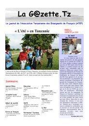 La G@zette.Tz - Ambassade de France en Tanzanie