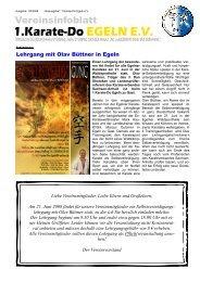 Vereinsinfoblatt Mai 2008 - des 1.Karate-Do Egeln eV