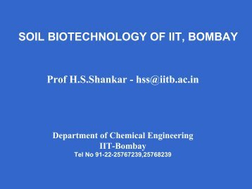 Prof HS Shankar - Chemical Engineering, IIT Bombay