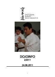 dojoinfo 2 2011 - Shotokan Karate Dojo Münster eV