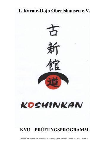 Koshinkan Kyu Prüfungsordnung 1. KDO - Shotokan Karate Dojo ...