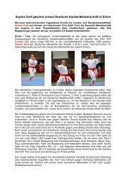 DM Jugend 2011 in Erfurt - KST - Karate & Sportverein Trier