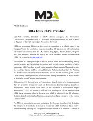 MDA hosts UEPC President