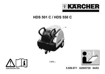 HDS 501 C / HDS 550 C - Kärcher
