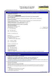 Ficha de datos de seguridad - Kärcher