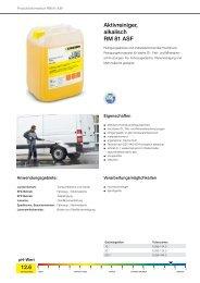 Aktivreiniger, alkalisch RM 81 ASF - Kärcher
