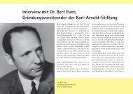 Interview mit Dr. Bert Even, Gründungsvorsitzender der Karl-Arnold ...