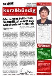 kurz&bündig - Karin Binder