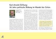 Karl-Arnold-Stiftung: 50 Jahre politische Bildung im Wandel der Zeiten