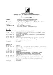 Rhetorik Jugendliche Partizipation - Karl-Arnold-Stiftung e.V.