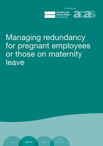 Managing redundancy for pregnant employees or those on ...