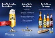 Informationsblatt zur Anleihe - Karlsberg Brauerei