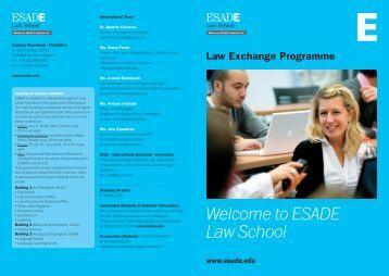 Welcome to ESADE Law School - University of Western Ontario ...