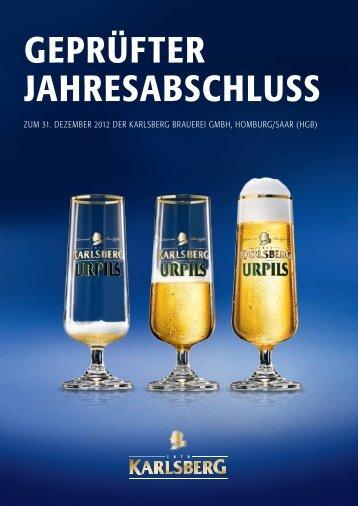 Jahresabschluss 2012 - Karlsberg Brauerei