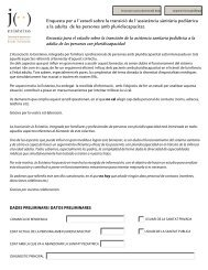 Enquesta Jo Existeixo - Asociación Catalana del Síndrome de Rett
