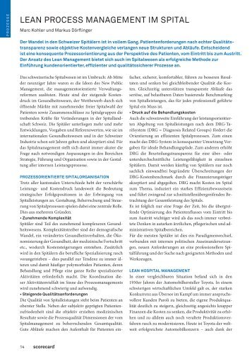 Lean im Gesundheitswesen - Abegglen Management Partners AG