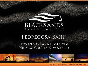 Pedregosa Basin 12_12_2010 - Blacksands Petroleum Inc.