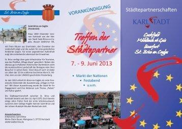 Treffen der Städtepartner - Stadt Karlstadt