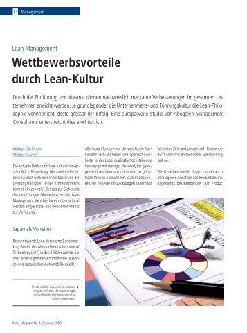 Wettbewerbsvorteile durch Lean-Kultur - Abegglen Management ...