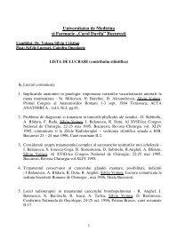 """Universitatea de Medicina si Farmacie """"Carol Davila"""" Bucuresti"""