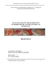 actualităţi în tratamentul tumorilor de unghi intern al - Gr.T. Popa