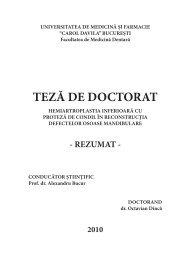 teză de doctorat - Universitatea de Medicina si Farmacie