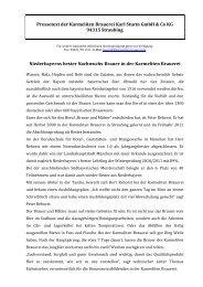 Artikel zum Download - Karmeliten Brauerei Straubing
