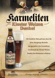 Straubings einzigartige Klosterbiere - Karmeliten Brauerei Straubing