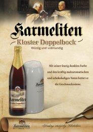 Kloster Doppelbock - Karmeliten Brauerei Straubing
