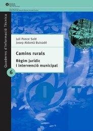 Camins Rurals. Règim jurídic i intervenció municipal - Agroterritori