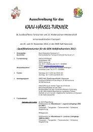 Ausschreibung - Karneval in Hannover