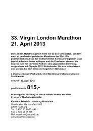 33. Virgin London Marathon 21. April 2013 - Karstadt Reisen