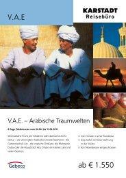 V.A.E ab € 1.550 - Karstadt Reisen