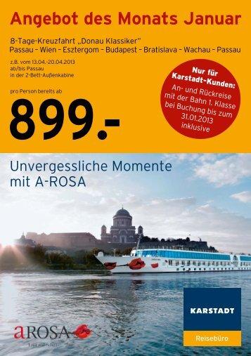 Angebot des Monats Januar - Karstadt Reisen
