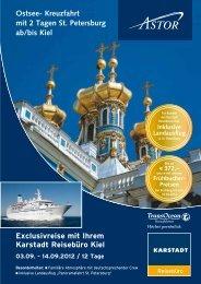 Exclusivreise mit Ihrem Karstadt Reisebüro Kiel - Karstadt Reisen