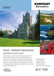 Irland ab € 1260 - Karstadt Reisen