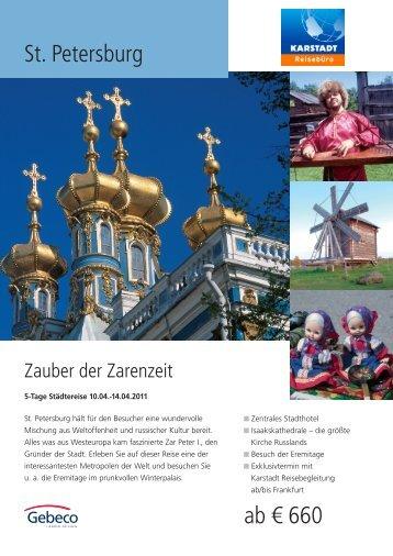 St. Petersburg ab € 660 - Karstadt Reisen