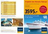 Angebot des Monats Februar - Karstadt Reisen
