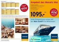 Angebot des Monats Mai - Karstadt Reisen