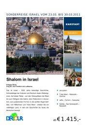 Shalom in Israel - Karstadt Reisen