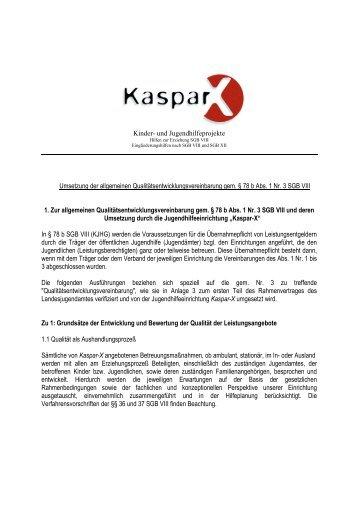Kinder- und Jugendhilfeprojekte Umsetzung der allgemeinen ...