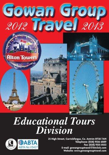 Gowan Travel 2012-13 Brochure - Gowan Group Travel