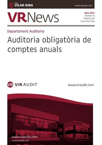 Auditoria obligatòria de comptes anuals - Vilar Riba